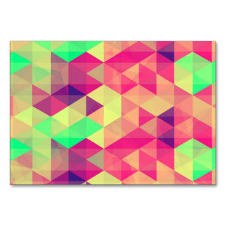 Colorful triangle polygonal pattern card
