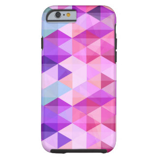 Colorful triangle polygonal pattern tough iPhone 6 case