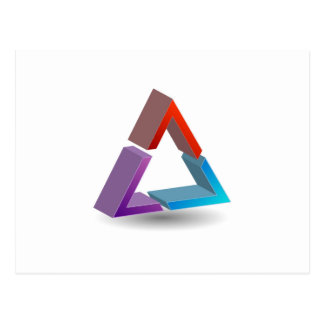 Colorful triangle postcard