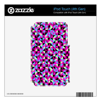 Colorful triangle print decals for iPod touch 4G