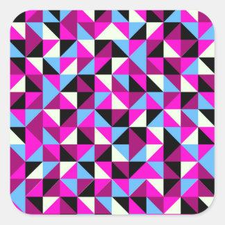 Colorful triangle print square sticker