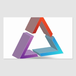 Colorful triangle rectangular sticker
