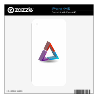 Colorful triangle skin for iPhone 4S
