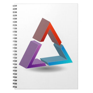 Colorful triangle spiral notebook