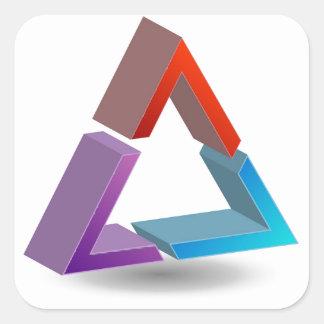 Colorful triangle square sticker