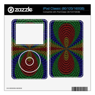 Colorful triangle tiles pattern skins for iPod