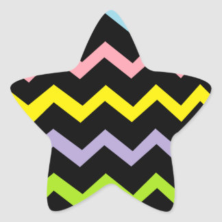 Colorful Triangle Waves Star Sticker