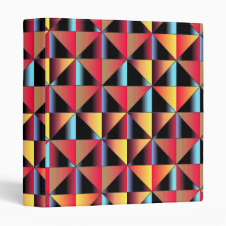 Colorful triangles 3 ring binder