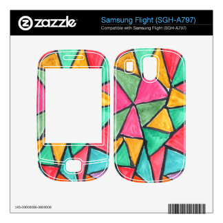 Colorful Triangles - abstract watercolor design Samsung Flight Skins