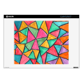 """Colorful Triangles - abstract watercolor design 14"""" Laptop Skin"""