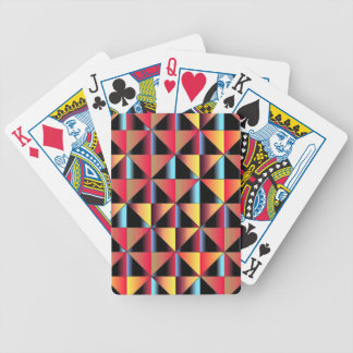 Colorful triangles bicycle playing cards