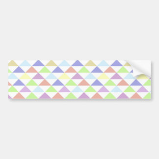 Colorful triangles bumper sticker