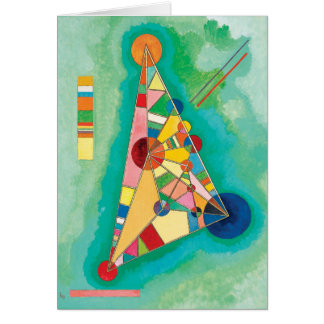 Colorful Triangles by Wassily Kandinsky Card