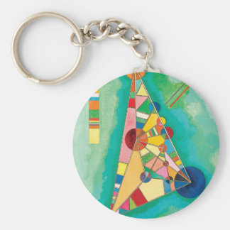 Colorful Triangles by Wassily Kandinsky Keychain