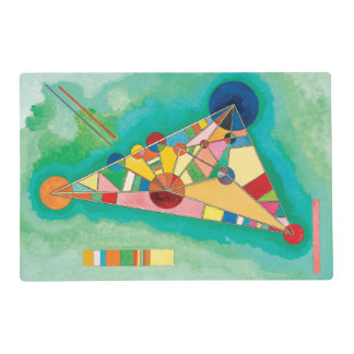 Colorful Triangles by Wassily Kandinsky Placemat