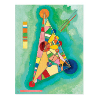 Colorful Triangles by Wassily Kandinsky Postcard
