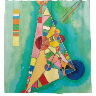 Colorful Triangles by Wassily Kandinsky Shower Curtain