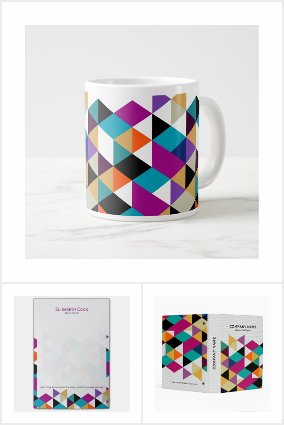 Colorful Triangles Composition