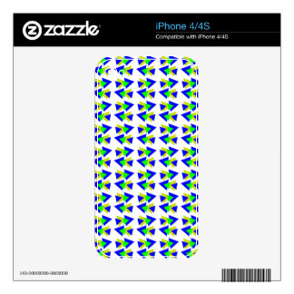 Colorful Triangles Decals For The iPhone 4