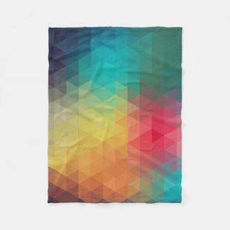 Colorful Triangles Fleece Blanket