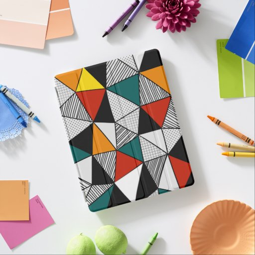 colorful triangles geometric pattern iPad smart cover