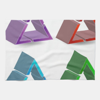 Colorful triangles hand towel