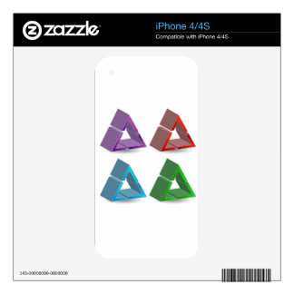 Colorful triangles iPhone 4S decal