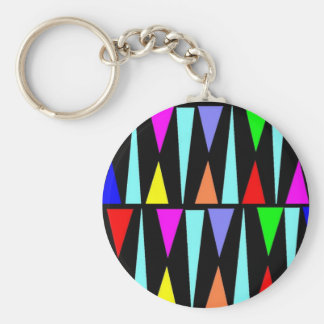 Colorful Triangles Keychain