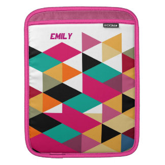Colorful Triangles Modern Geometric Pattern Sleeves For iPads