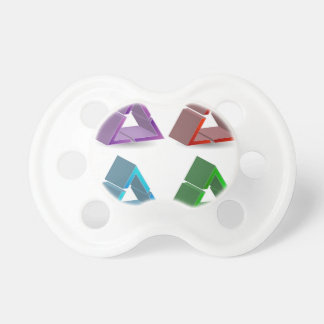 Colorful triangles pacifier