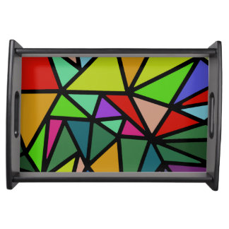 colorful triangles serving tray