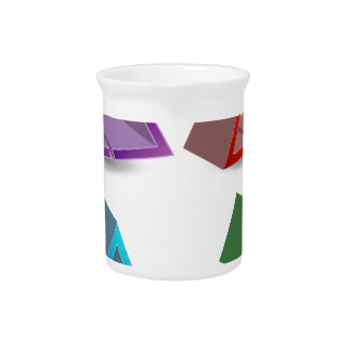Colorful triangles drink pitcher