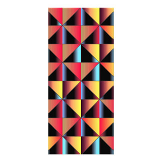 Colorful triangles rack card