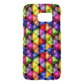 colorful triangles samsung galaxy s7 case