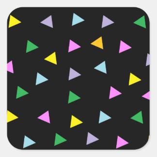 Colorful Triangles Square Sticker