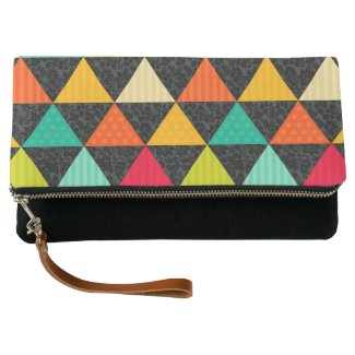 Colorful Triangles Stripes Polka Dots
