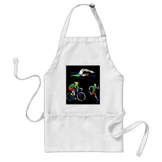 Colorful Triathlon Design Adult Apron