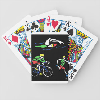 Colorful Triathlon Design Bicycle Playing Cards