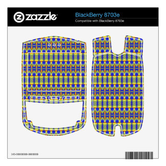Colorful tribal art BlackBerry 8703e skin