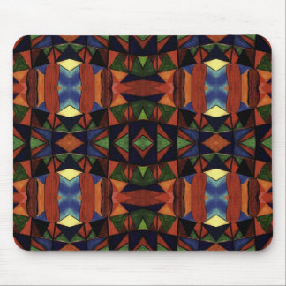 Colorful Tribal Art Design Mouse Pad