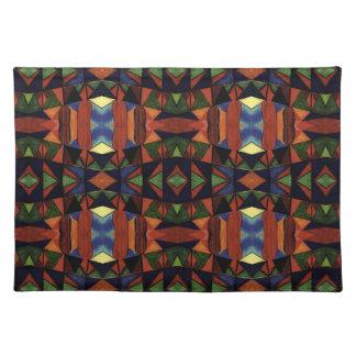 Colorful Tribal Art Design Place Mat