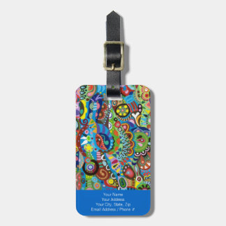 Colorful Tribal Art Luggage Tag - Customize it!
