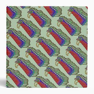 Colorful Tribal Bird Pixel Binder