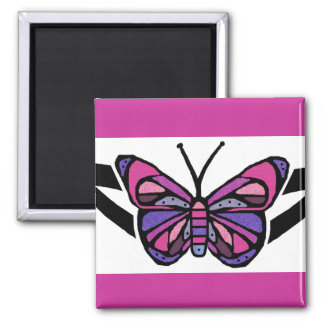 Colorful tribal butterfly magnet