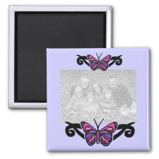 Colorful tribal  butterfly template magnet