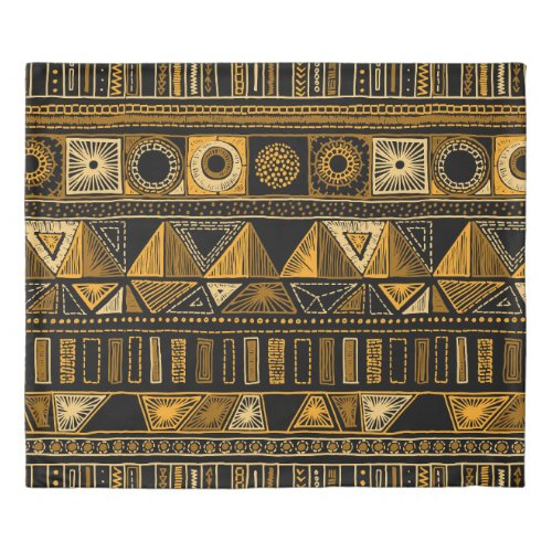 Colorful tribal ethnic seamless pattern duvet cover