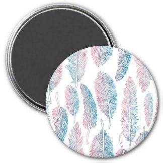 Colorful Tribal Feather Pattern | Magnet