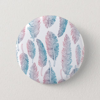 Colorful Tribal Feather Pattern | Pin Button