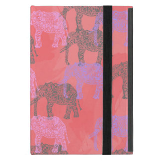 colorful tribal floral elephant pattern iPad mini cover