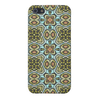 Colorful Tribal Floral Flowers Weave Groovy Cover For iPhone 5